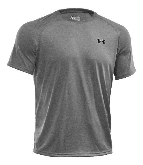 Mens Under Armour Tech Short Sleeve T Technical Tops - White XL
