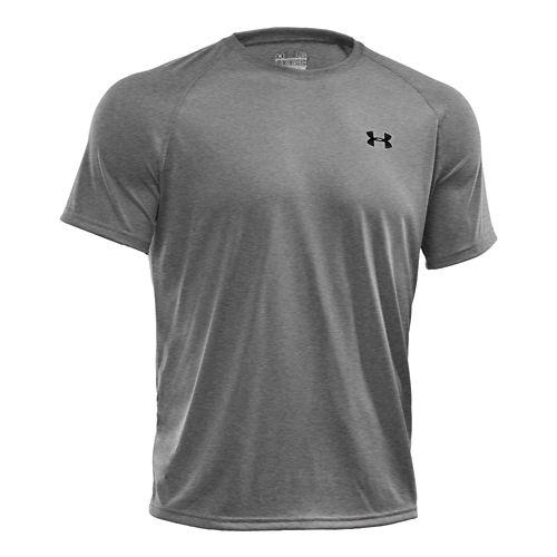 Mens Under Armour UA Tech Short Sleeve T Technical Tops - White XL
