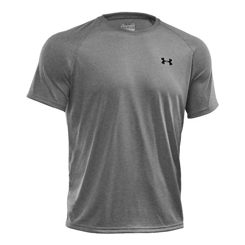 Mens Under Armour Tech Short Sleeve T Technical Tops - Stealth Grey XXL