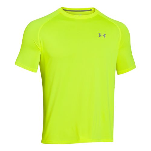Mens Under Armour UA Tech Short Sleeve T Technical Tops - Neon Yellow M