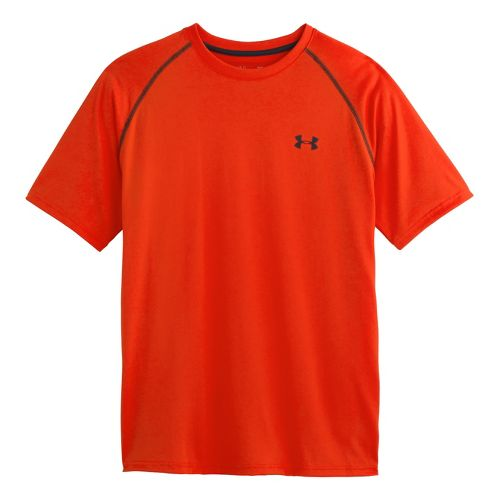 Mens Under Armour UA Tech Short Sleeve T Technical Tops - Volcano L