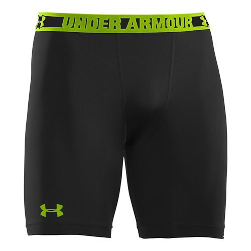 Mens Under Armour Heatgear Sonic Compression Fitted Shorts - Black/Hyper Green 5XL
