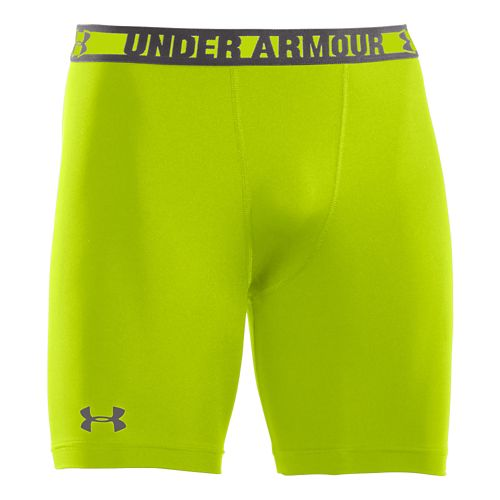 Mens Under Armour Heatgear Sonic Compression Fitted Shorts - Velocity/Charcoal XXL