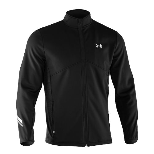 Mens Under Armour UA Coldgear Infrared Storm Run Running Jackets - Black XL