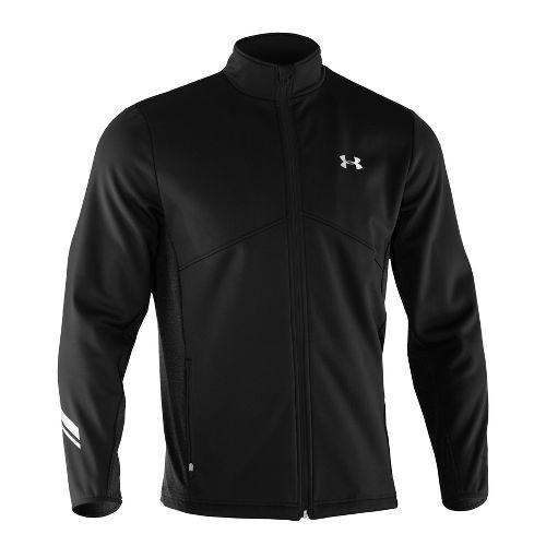 Mens Under Armour UA Coldgear Infrared Storm Run Running Jackets - Black XL