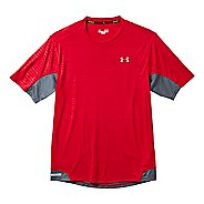 Mens Under Armour Heatgear Flyweight Run Emboss T Short Sleeve Technical Tops