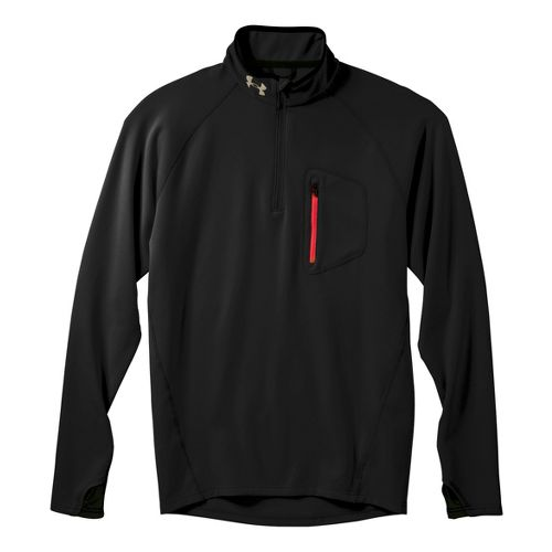 Mens Under Armour UA Coldgear Thermo Run 1/4 Zip Long Sleeve 1/2 Zip Technical Tops ...