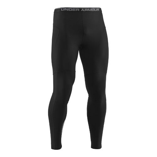 Mens Under Armour UA Run Coldgear Fitted Tights - Black L