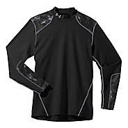 Mens Under Armour UA Coldgear Infrared EVO Mock Long Sleeve No Zip Technical Tops