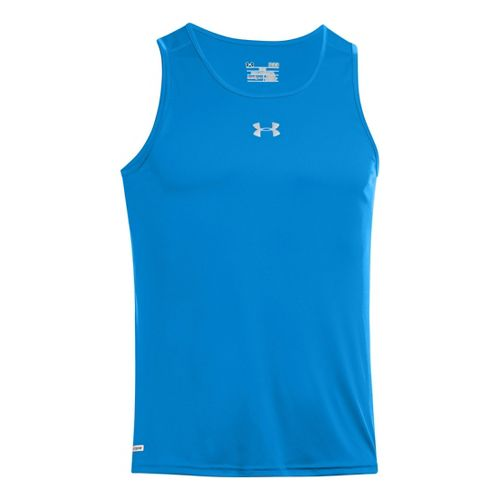 Mens Under Armour Heatgear Flyweight Run Singlet Tanks Technical Tops - Electric Blue XL