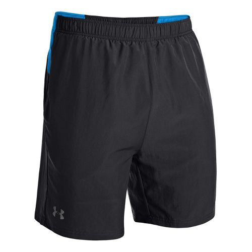 Mens Under Armour UA Sixth Man 2-in-1 Shorts - Black/Electric Blue L