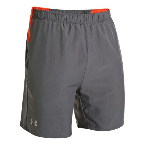 Mens Under Armour UA Sixth Man 2-in-1 Shorts - Graphite/Volcano M