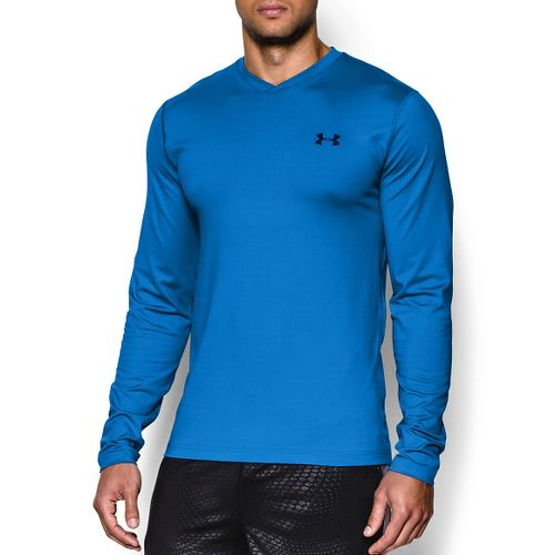 Mens Under Armour Coldgear Infrared T Long Sleeve No Zip Technical Tops - Blue Jet ...