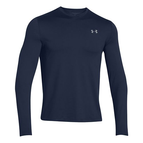Mens Under Armour Coldgear Infrared T Long Sleeve No Zip Technical Tops - Academy/Steel S ...