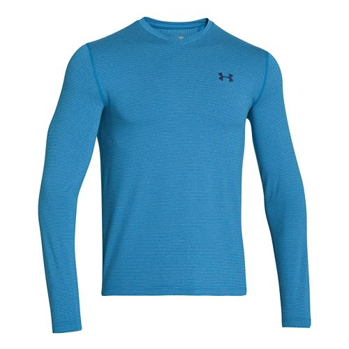 Mens Under Armour Coldgear Infrared T Long Sleeve No Zip Technical Tops - Blue/Navy L ...