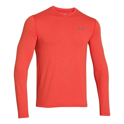 Mens Under Armour Coldgear Infrared T Long Sleeve No Zip Technical Tops - Volcano/Graphite S ...