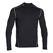 Mens Under Armour EVO Coldgear Fitted Mock Long Sleeve No Zip Technical Tops