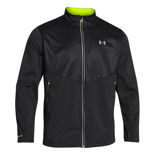 Mens Under Armour UA Coldgear Infrared Chrome Heavy Jacket - Black XL