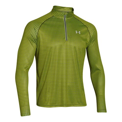 Mens Under Armour Promise Land 1/4 Zip Long Sleeve 1/2 Zip Technical Tops - Rifle ...