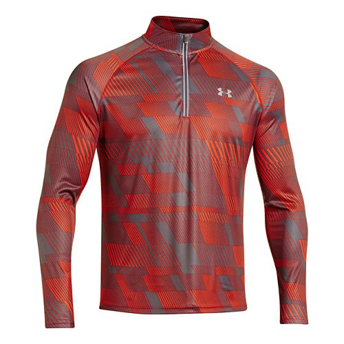 Mens Under Armour Promise Land 1/4 Zip Long Sleeve 1/2 Zip Technical Tops - Volcano ...