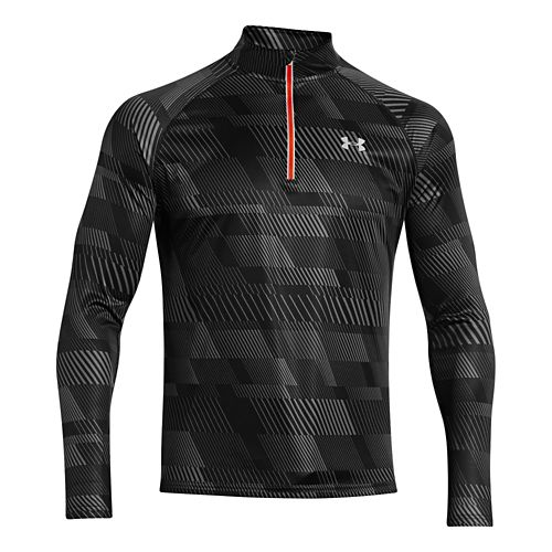 Mens Under Armour Promise Land 1/4 Zip Long Sleeve 1/2 Zip Technical Tops - Black/After ...