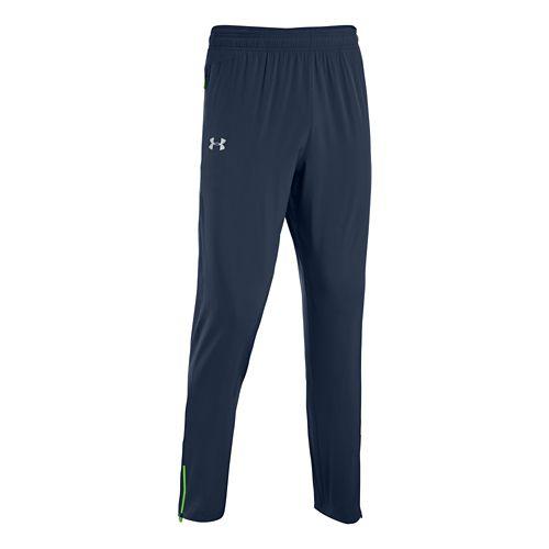 Mens Under Armour Heatgear Flyweight Run Full Length Pants - Academy/Gecko Green L