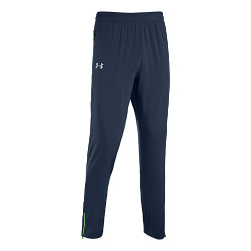 Mens Under Armour Heatgear Flyweight Run Full Length Pants - Academy/Gecko Green S