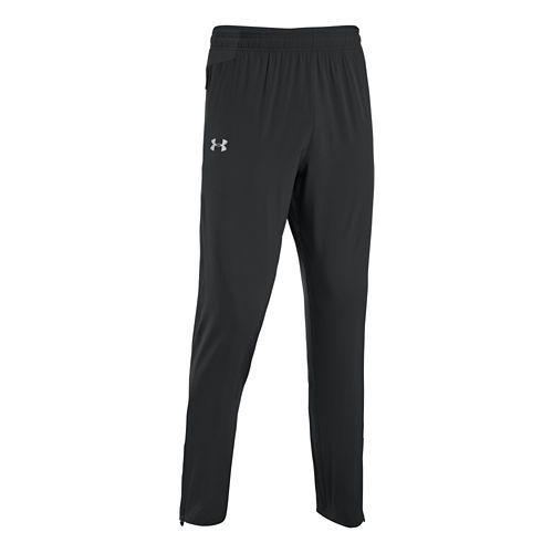 Mens Under Armour Heatgear Flyweight Run Full Length Pants - Black XL