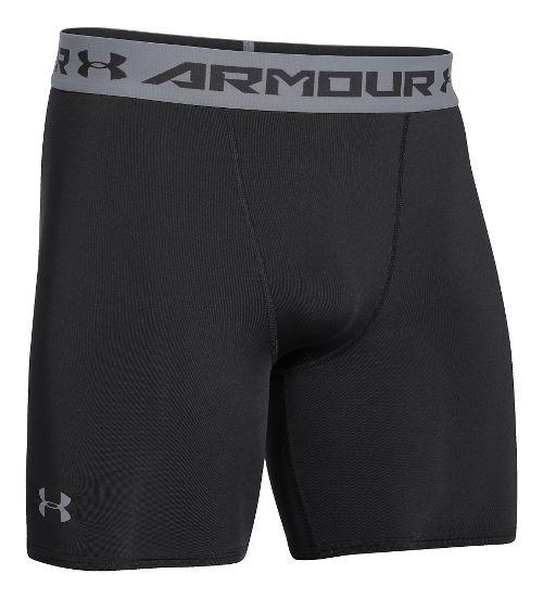 Mens Under Armour Heatgear Armour Compression Short Boxer Brief Underwear Bottoms - Black S