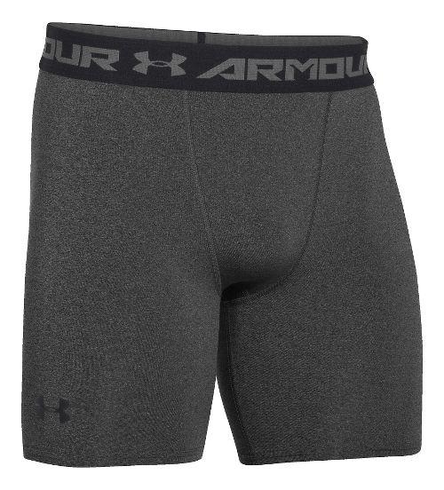 Mens Under Armour Heatgear Armour Compression Short Boxer Brief Underwear Bottoms - Carbon ...