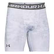 Mens Under Armour HeatGear Armour Compression Printed Short Boxer Brief Underwear Bottoms