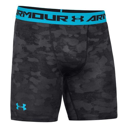 Mens Under Armour HeatGear Armour Compression Printed Short Boxer Brief Underwear Bottoms - ...