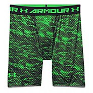 Mens Under Armour HeatGear Armour Compression Printed Short Boxer Brief Underwear Bottoms