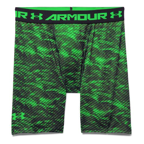 Mens Under Armour HeatGear Armour Compression Printed Short Boxer Brief Underwear Bottoms - ...