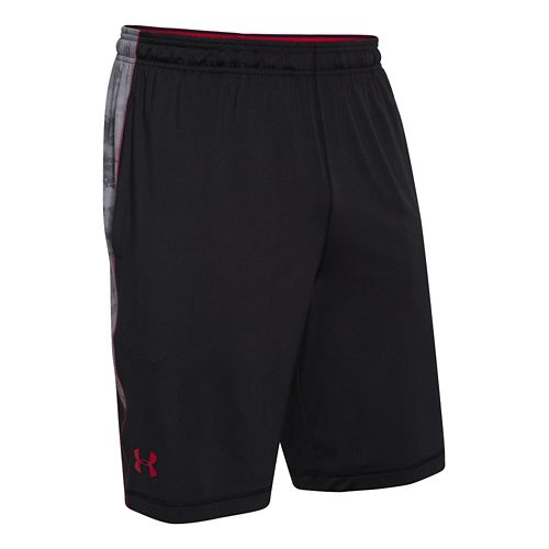Mens Under Armour Raid Printed Unlined Shorts - Black/Steel XXL