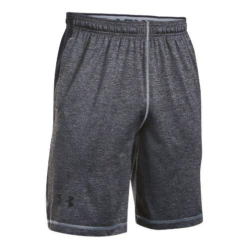 Mens Under Armour Raid Printed Unlined Shorts - Steel/Black M