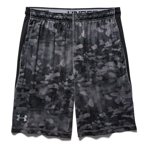 Mens Under Armour Raid Printed Unlined Shorts - Graphite/Black XL