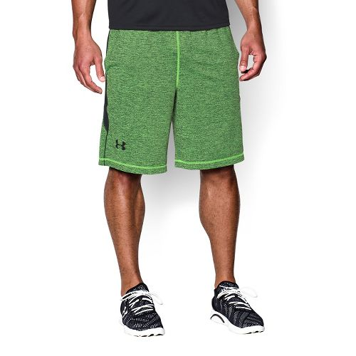 Mens Under Armour Raid Printed Unlined Shorts - Hyper Green/Black S