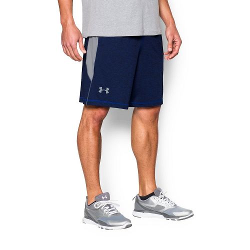 Mens Under Armour Raid Printed Compression & Fitted Shorts - Royal/Grey L