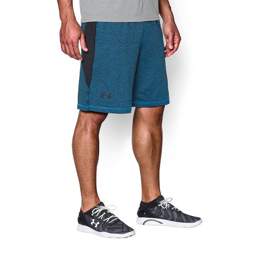 Mens Under Armour Raid Printed Compression & Fitted Shorts - Blue Jet/Black L