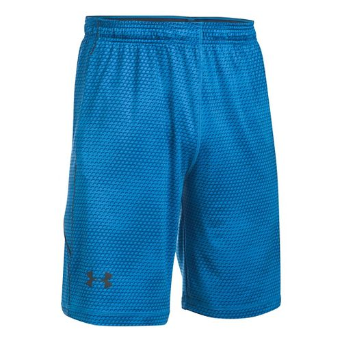 Mens Under Armour Raid Printed Unlined Shorts - Brilliant Blue L