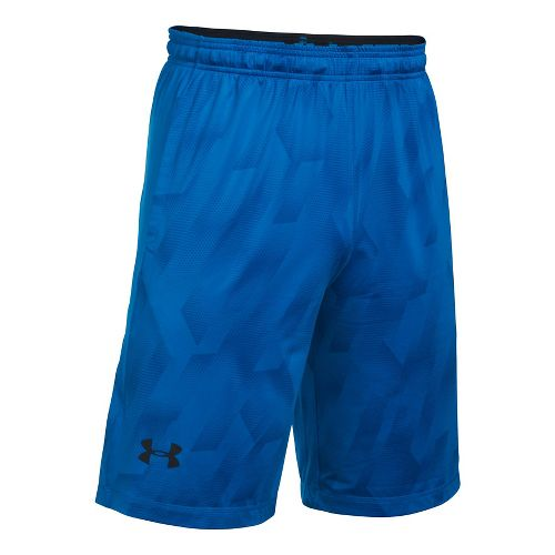Mens Under Armour Raid Printed Unlined Shorts - Blue Marker XXL