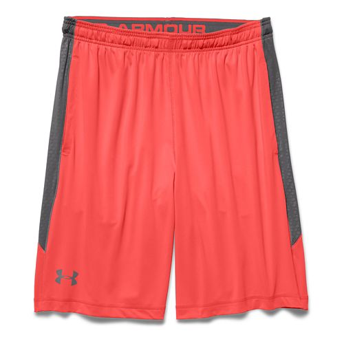 Mens Under Armour Raid Printed Unlined Shorts - After Burn/Graphite L