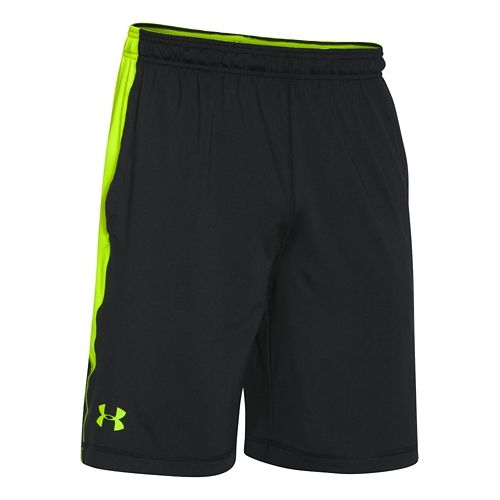 Mens Under Armour Raid Printed Unlined Shorts - Black/Neon Yellow XL