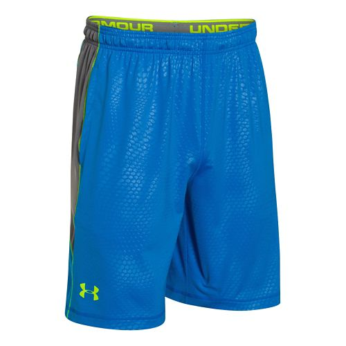 Mens Under Armour Raid Printed Unlined Shorts - Jet Blue/Graphite L