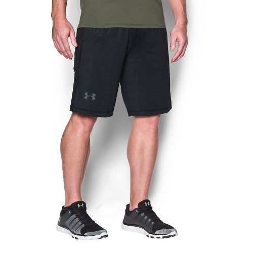 Mens Under Armour Raid Printed Unlined Shorts - White/Blue-Grey XL