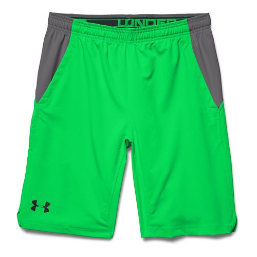 Mens Under Armour Hiit Unlined Shorts - Green Energy/Black XL