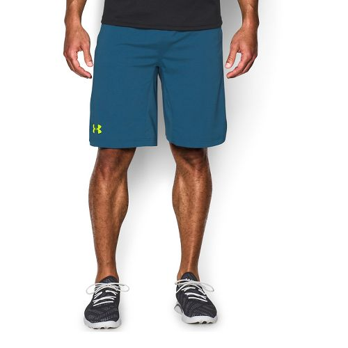 Mens Under Armour Hiit Unlined Shorts - Blue/Yellow L