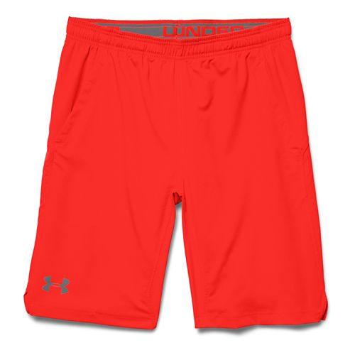 Mens Under Armour Hiit Unlined Shorts - Bolt/Orange XL