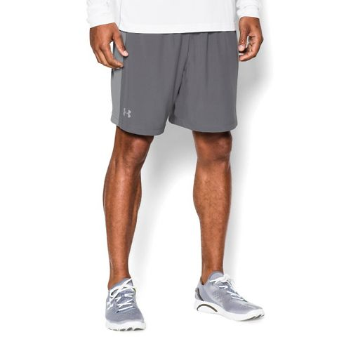 Mens Under Armour Launch 2-in-1 Shorts - Graphite/Steel L